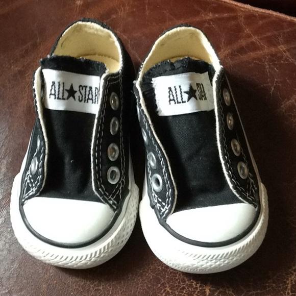 b3c7dc6973b1bd Converse Other - Converse baby shoes black Sz 2 infant